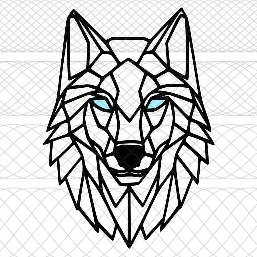 картинки волка из треугольников спите