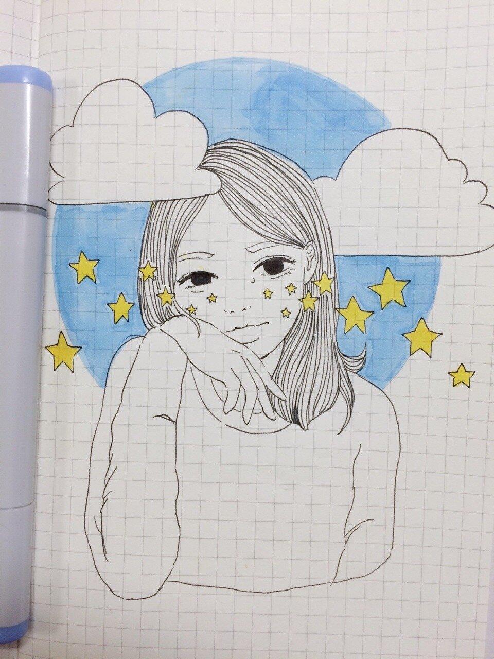 Картинки для срисовки карандашом красивые и легкие для девочек 8 лет