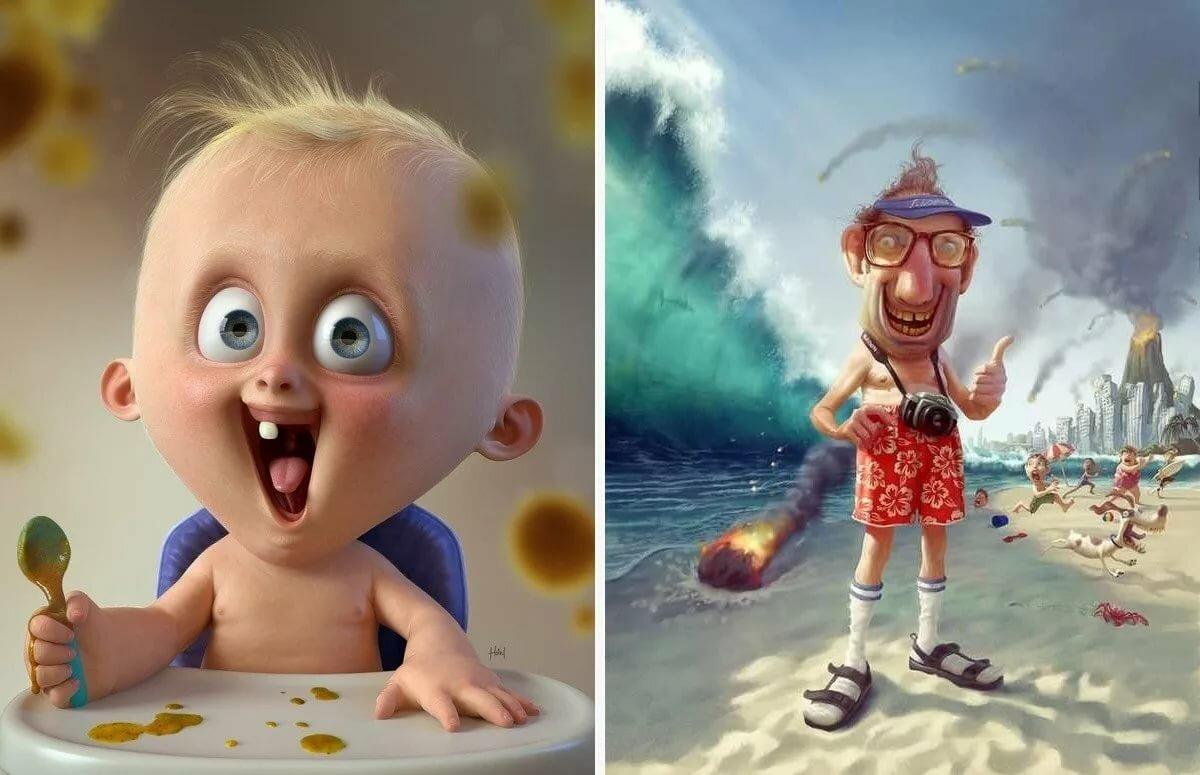Картинки смешные, картинки смешные до слез для детей нарисованные