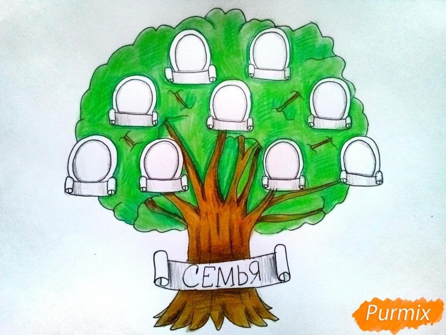 рисунок семейное дерево картинки рецептов домашних