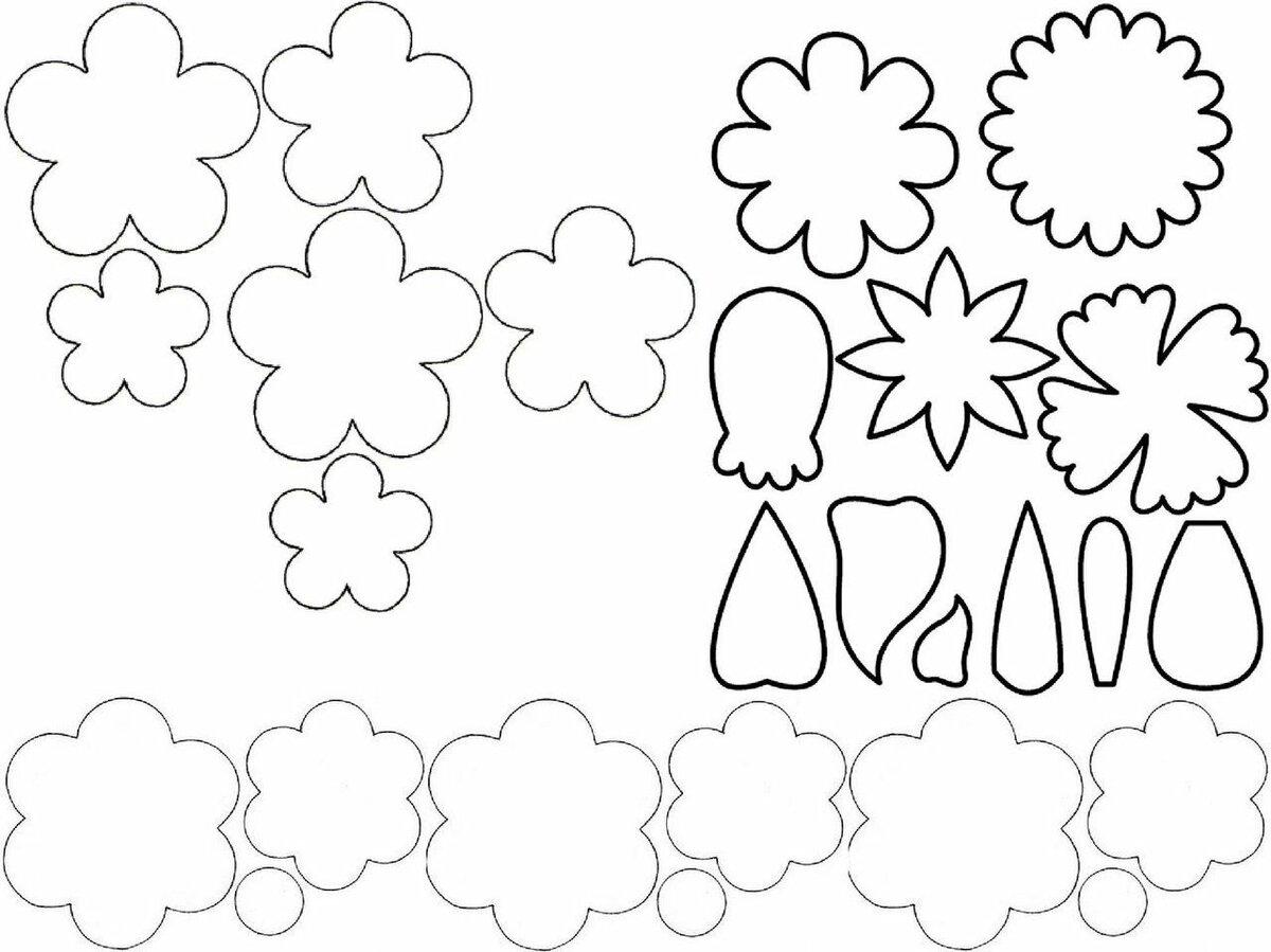 Шаблон цветков для открытки, открытки папе днем