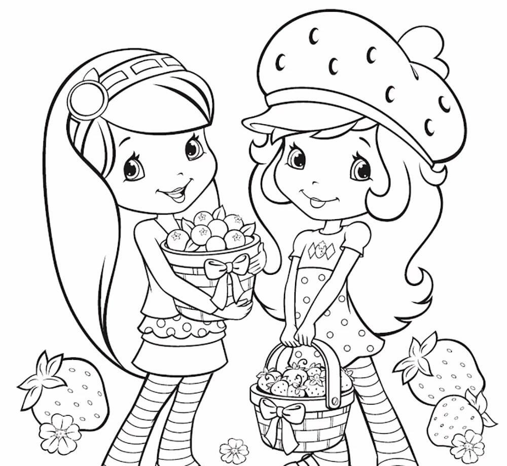 Картинки для девочек распечатать цветные