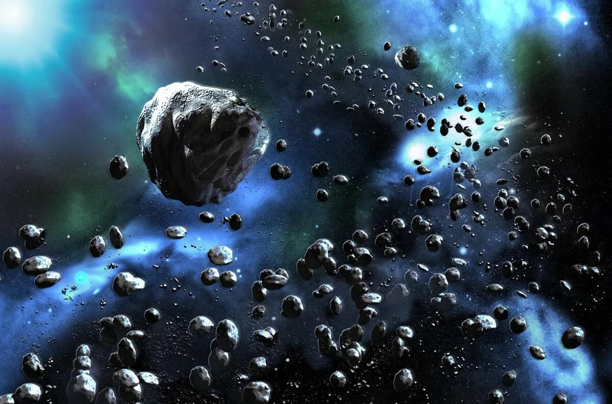 the asteroids in space - HD 1045×867