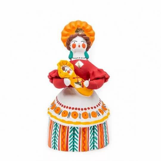 Картинка барышня дымковская игрушка