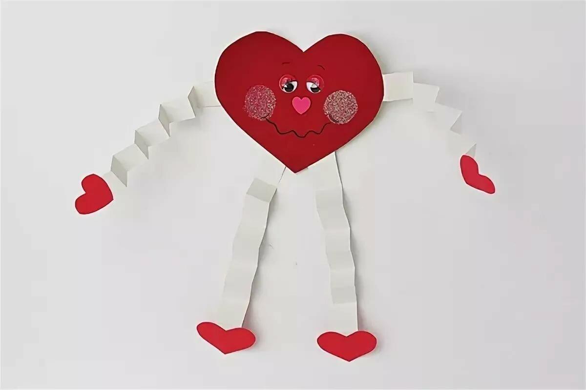 Открытках, открытка своими руками ко дню святого валентина для детей