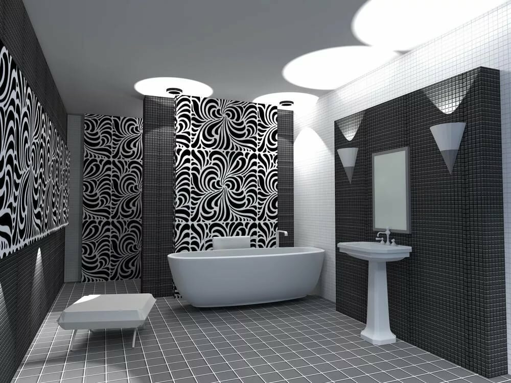 Ванна черно-белая картинки