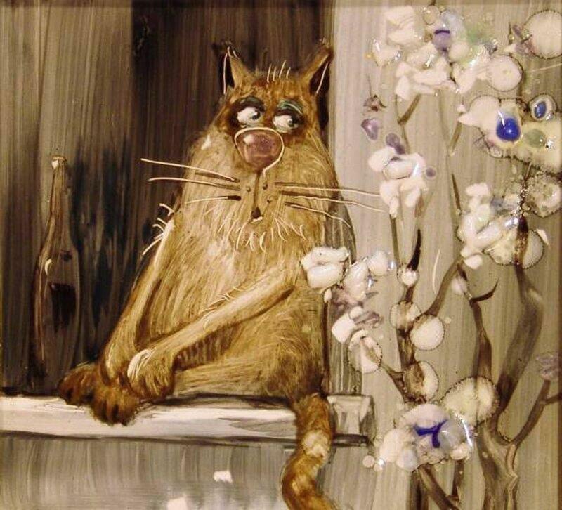 Для юлии, картинки коты рисованные работают на котельной на трубе сидят