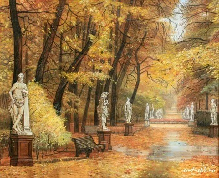 Рисунок летний сад санкт-петербург истории том