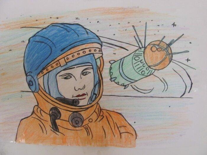 Картинки к 12 апреля день космонавтики рисунки