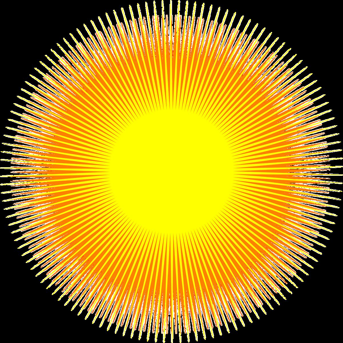 Картинки солнца с лучами на прозрачном фоне