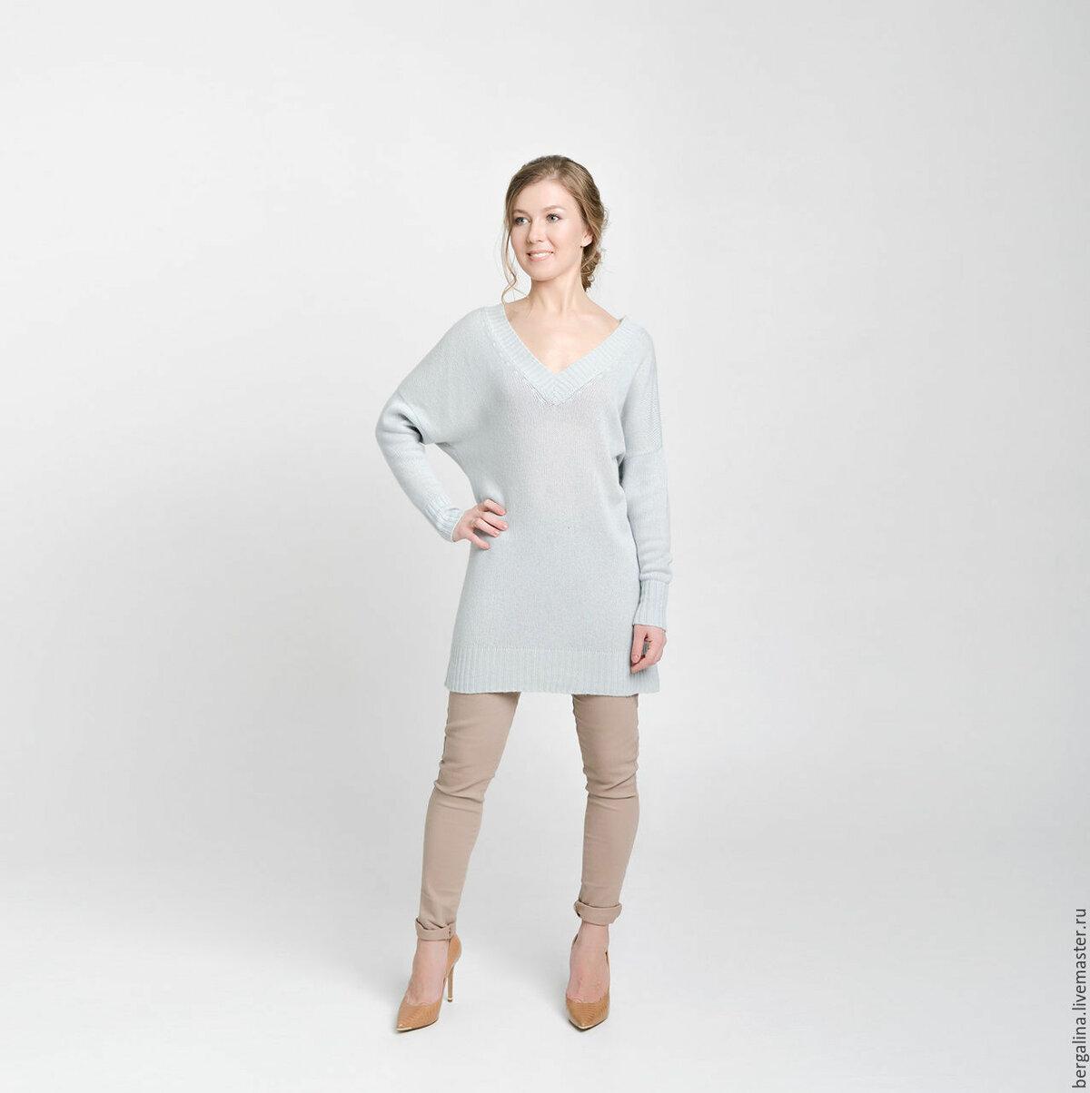 374c7c27bed ... Вязаное свитер-платье из кашемира