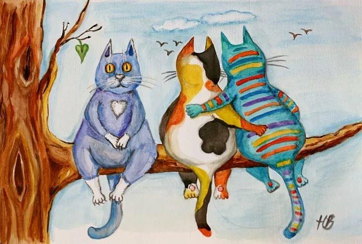 Веселые рисунки гуашью, крутые картинки