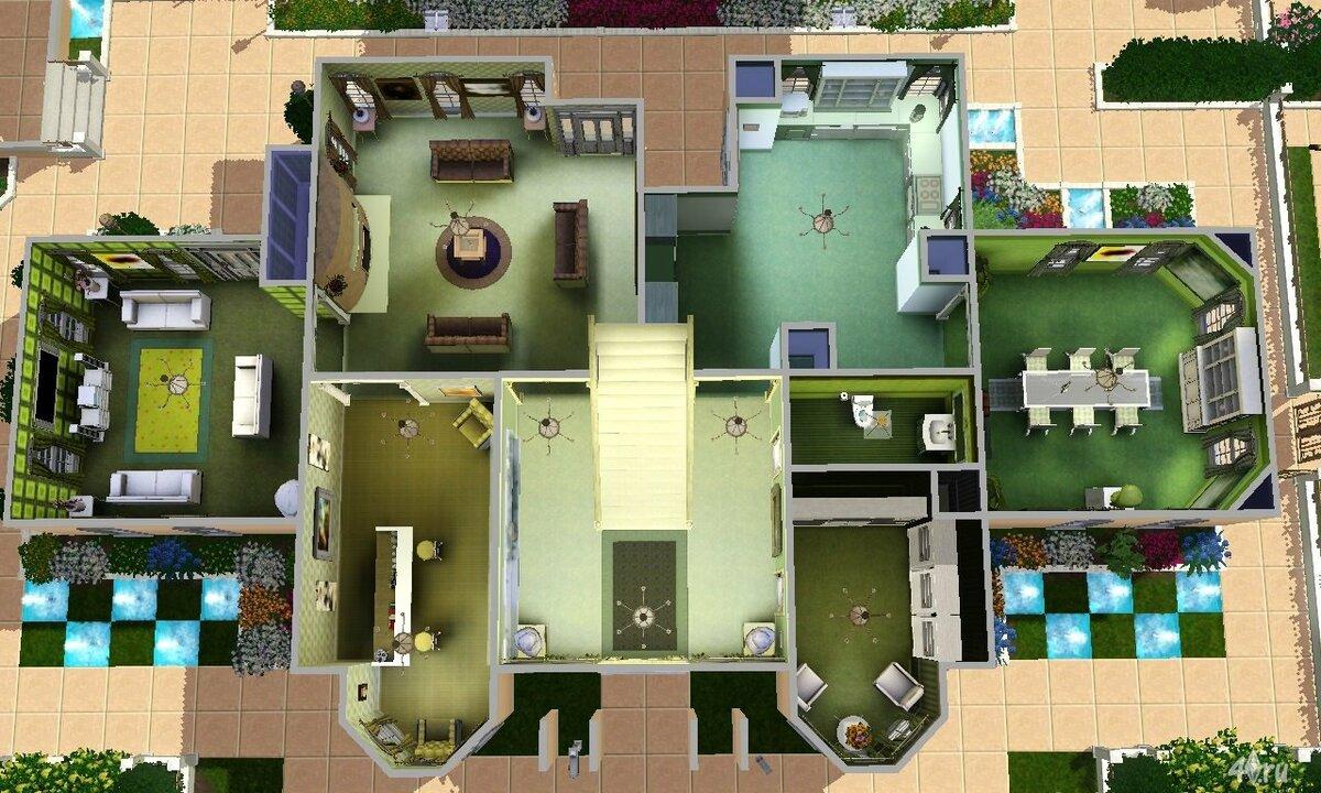 Красивый дом в симс 4 поэтапно в картинках
