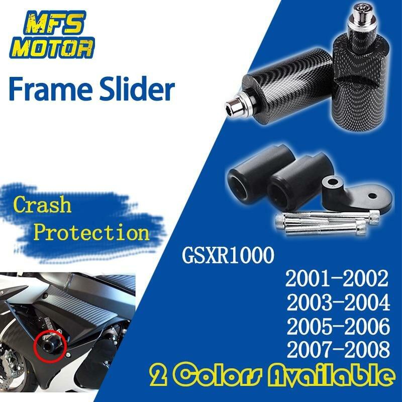 2005-2006 Suzuki GSXR 1000 No Cut Black Frame Sliders Crash Protectors Motorcycle