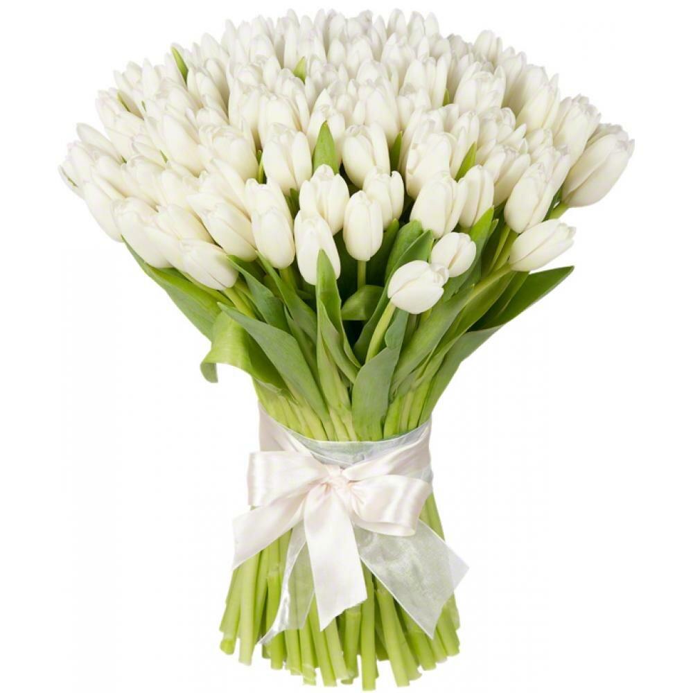 Заказать букет невесты спб с белыми тюльпанами