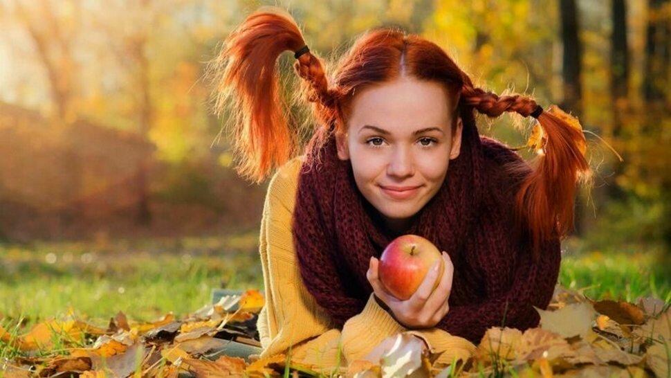 Картинки рыжая девочка с косичками