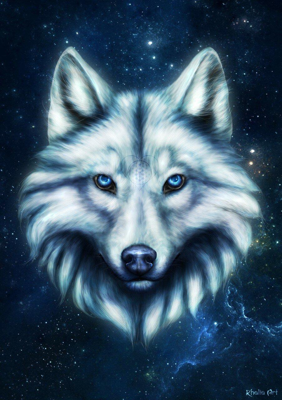 Крестнику, крутые картинки волками