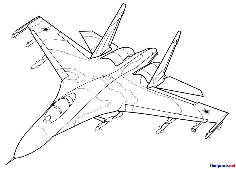 Картинки военных самолетов для срисовки