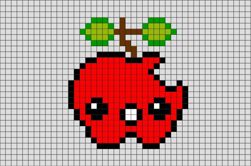 Картинки по клеточкам ягоды