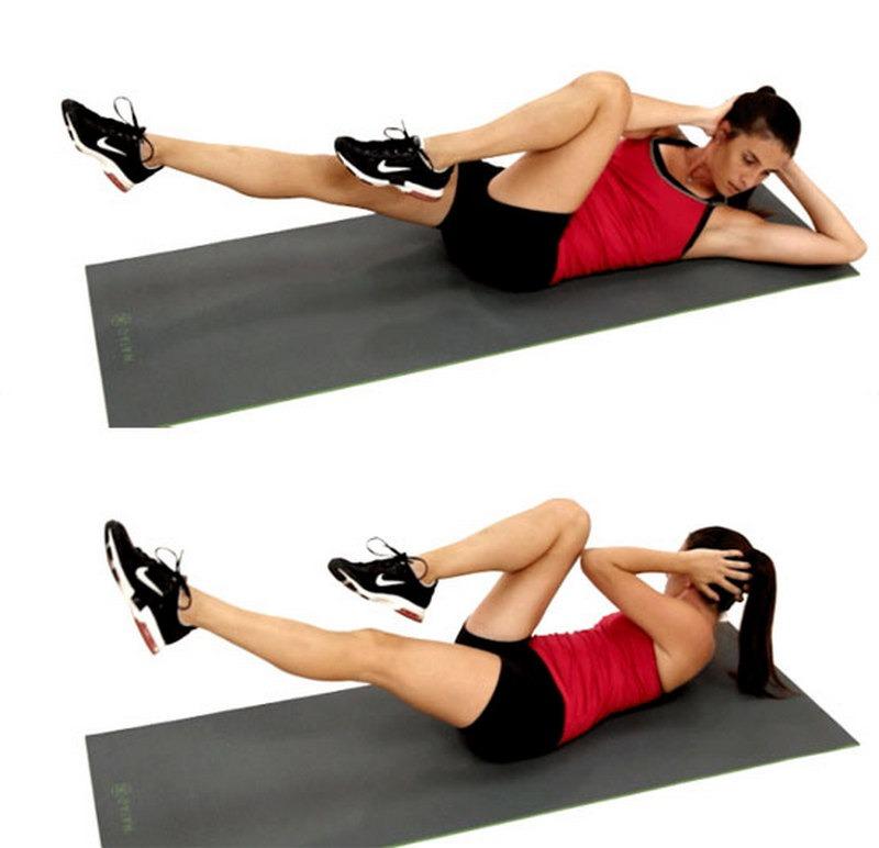 Упражнения лежа для пресса картинки
