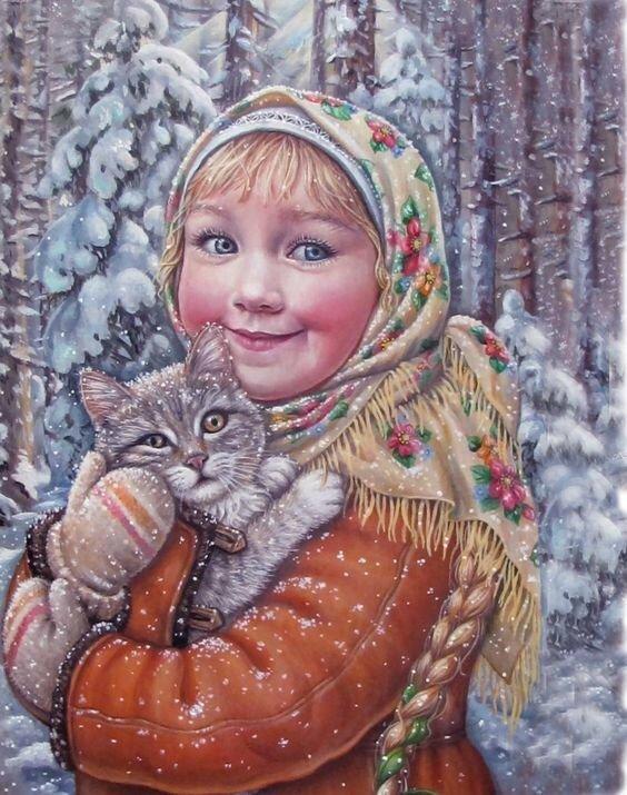краснощёкая с улыбкой, девчушка ясноглазая