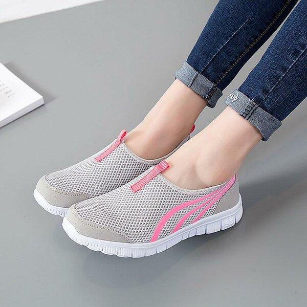 Женская обувь zapatos хомбре повседневная обувь мужчины 2016 мода горячая  Воздухопроницаемой Сеткой обувь женщина теннис женщина d35569b38d47c