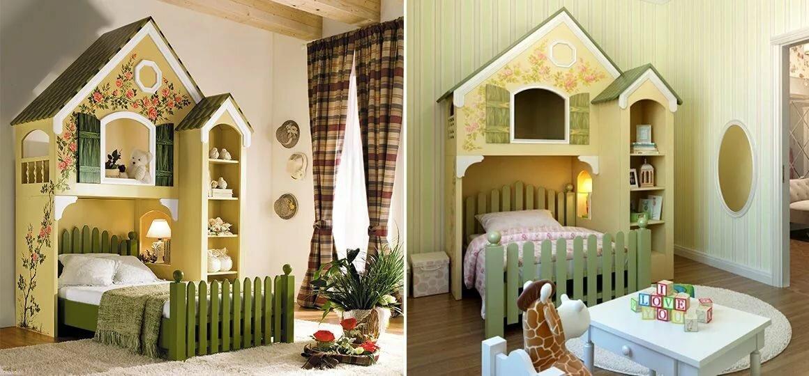 Картинки кровать виде домика