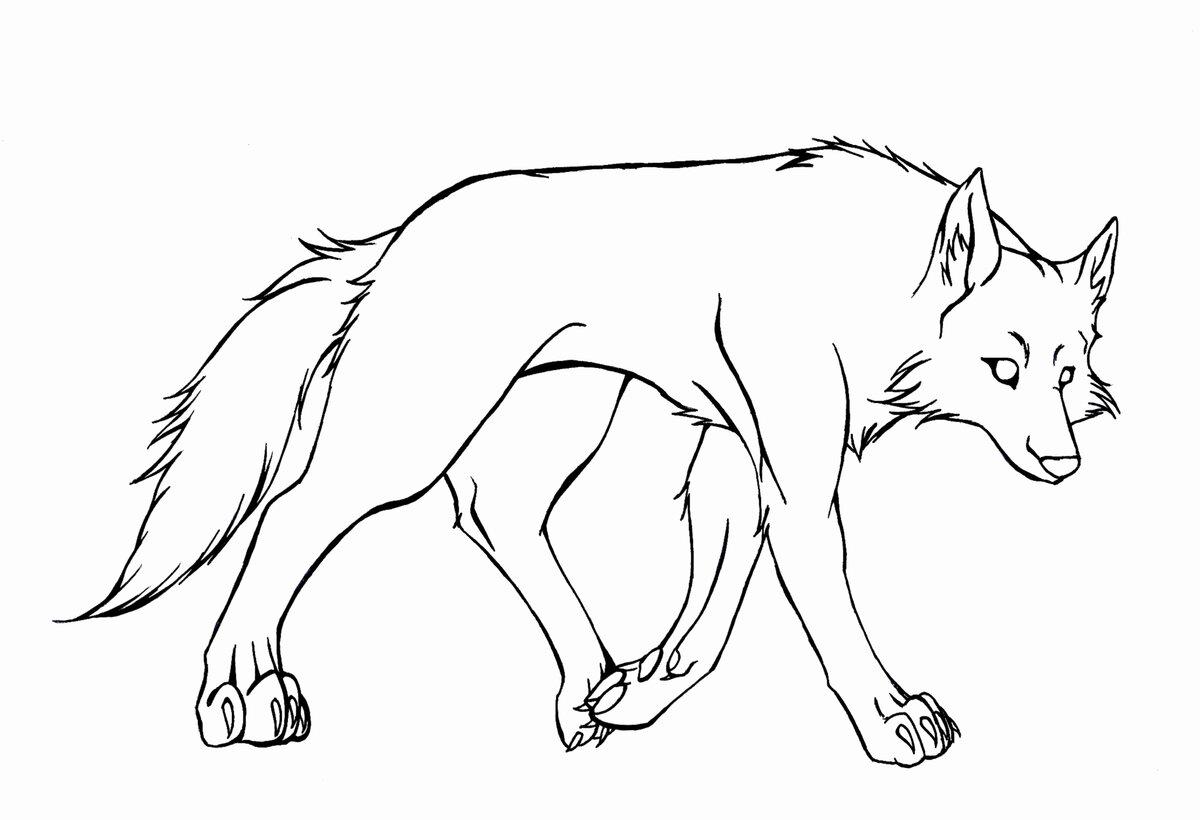 время волк мультяшный рисунок карандашом разворачивается