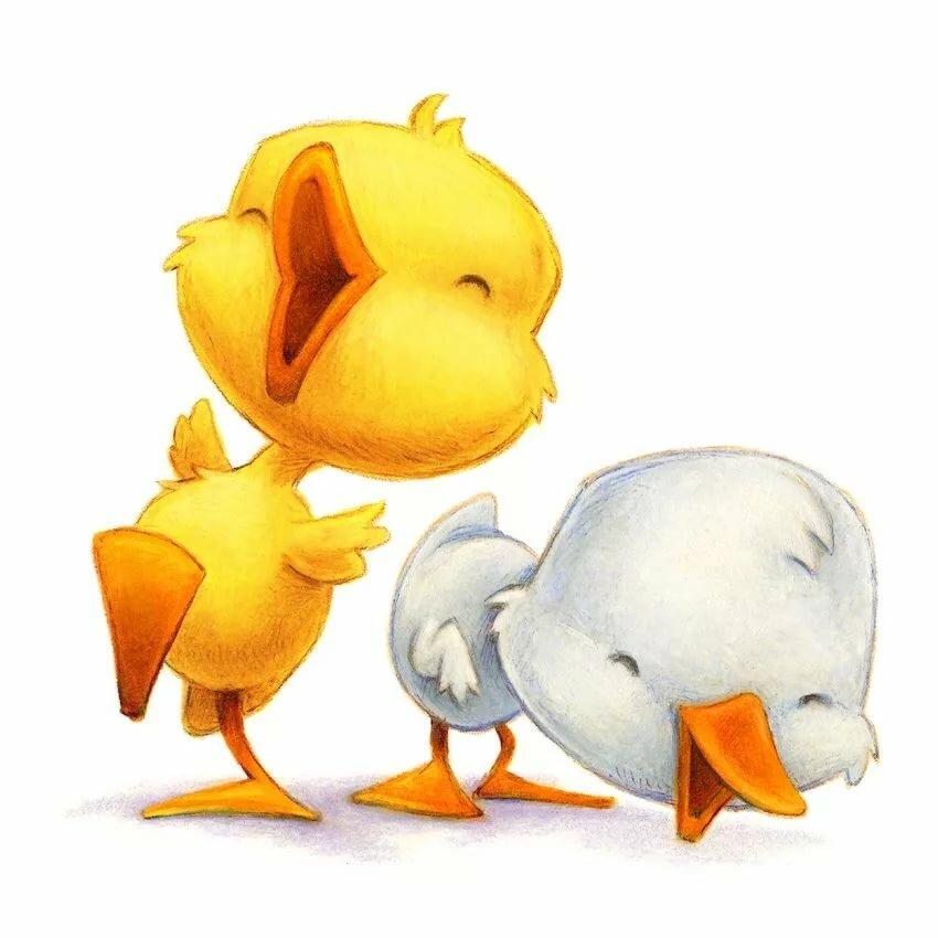Рисунок смешной утки