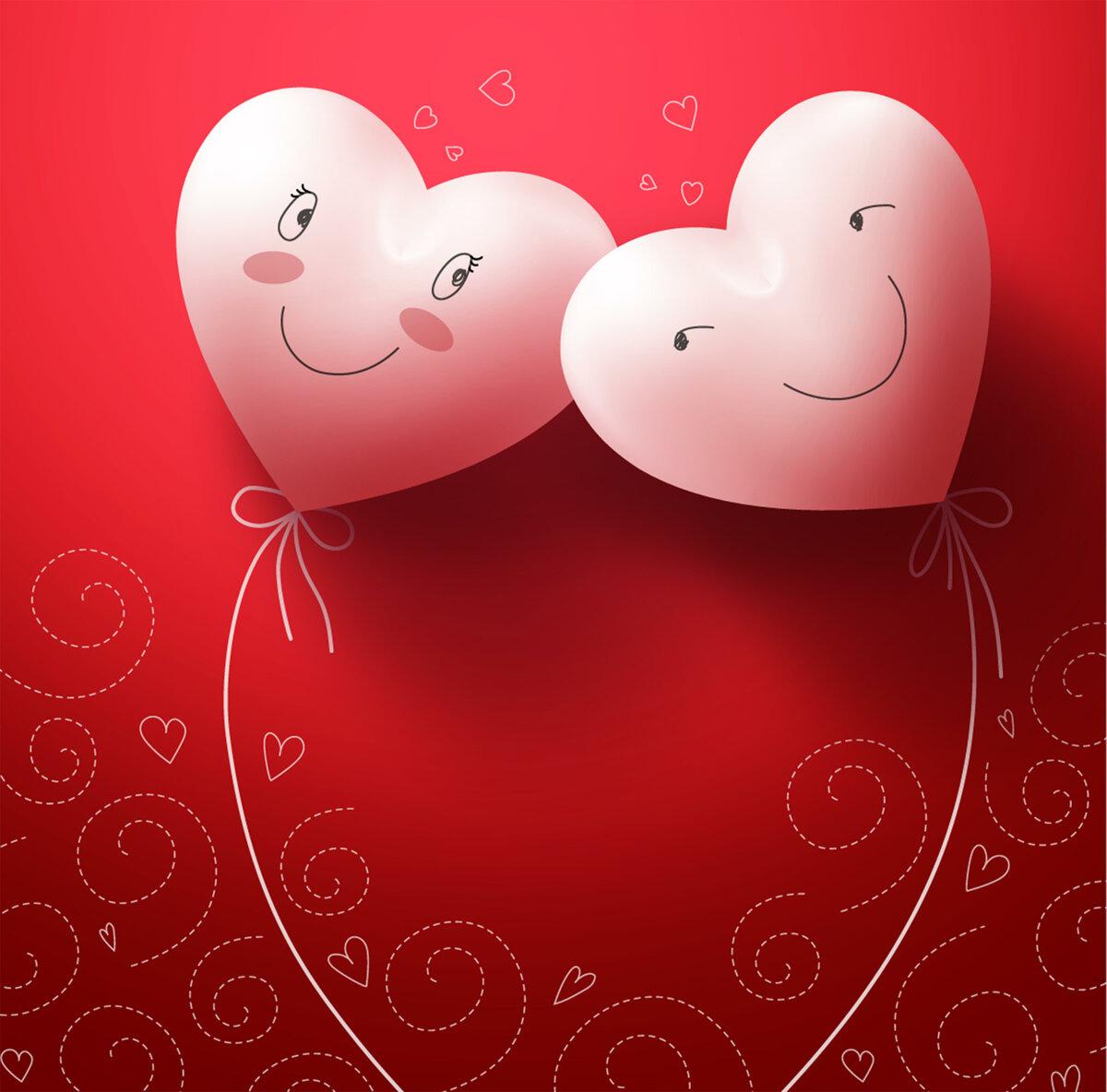 Интерактивная открытка на день святого валентина