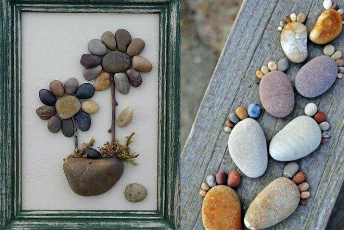 она картины из камушков своими руками фото жидкая текстура, ложится