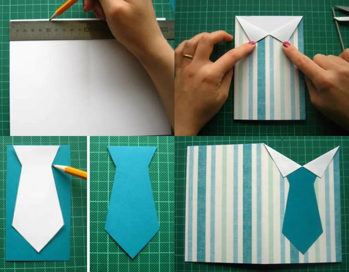 как сделать открытку виде рубашки своими руками для папы