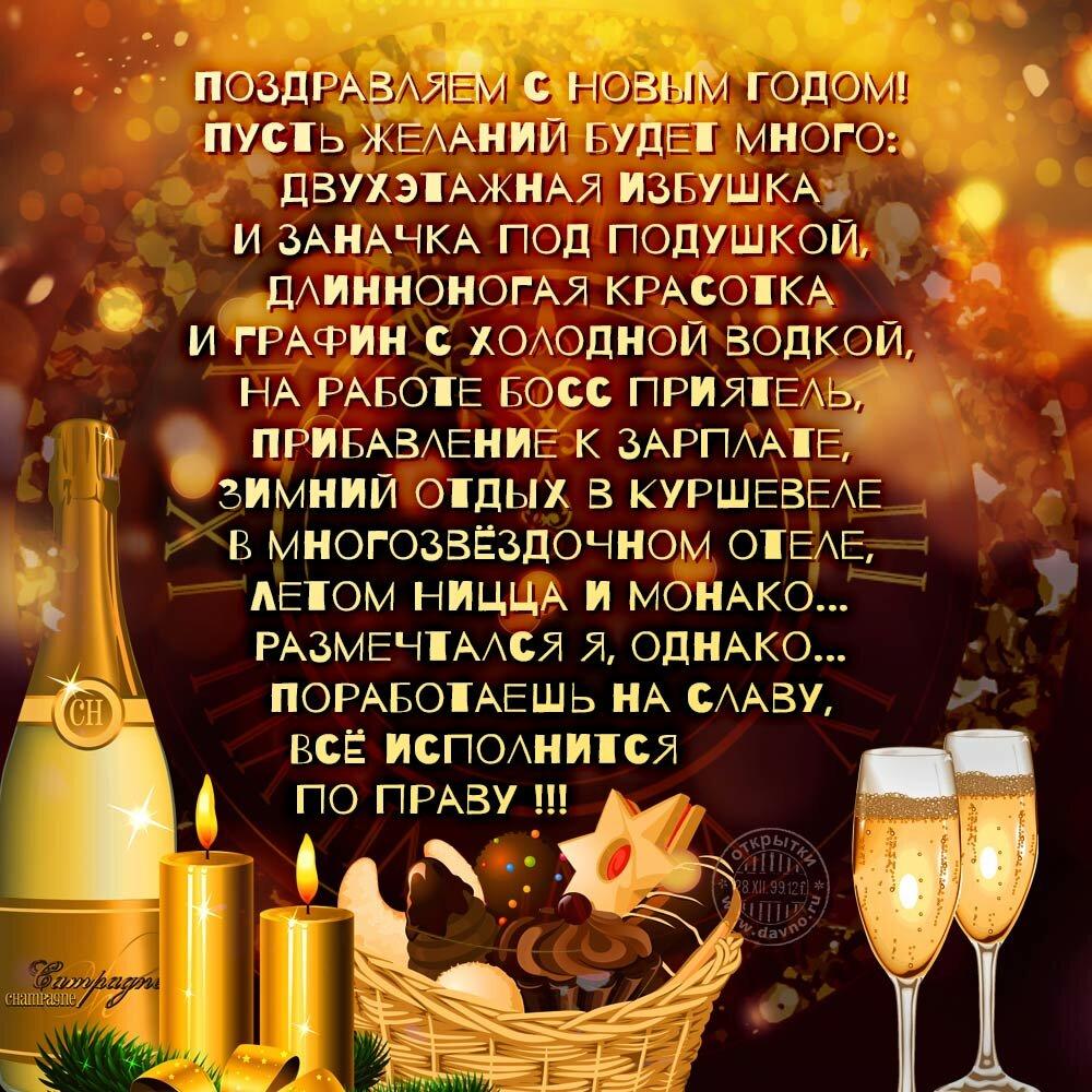 живородящие поздравление с новым годом со смыслом мужчине предстала фото роскошном