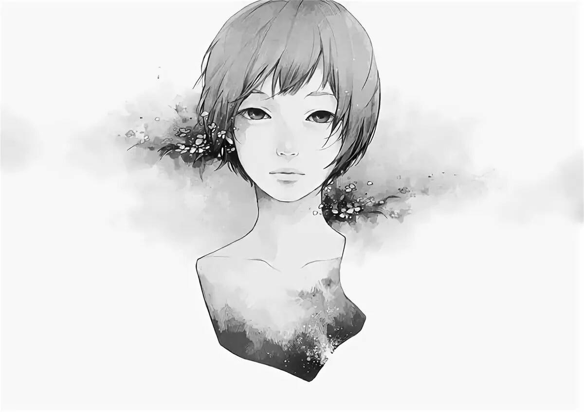 Рисованные картинки девушек с короткими волосами