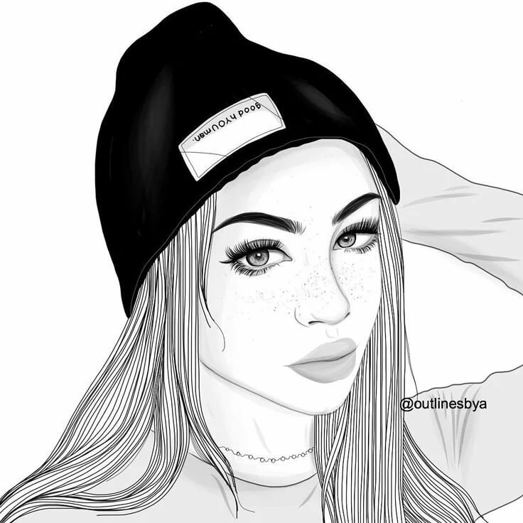 Рисунки девушки карандашом крутые