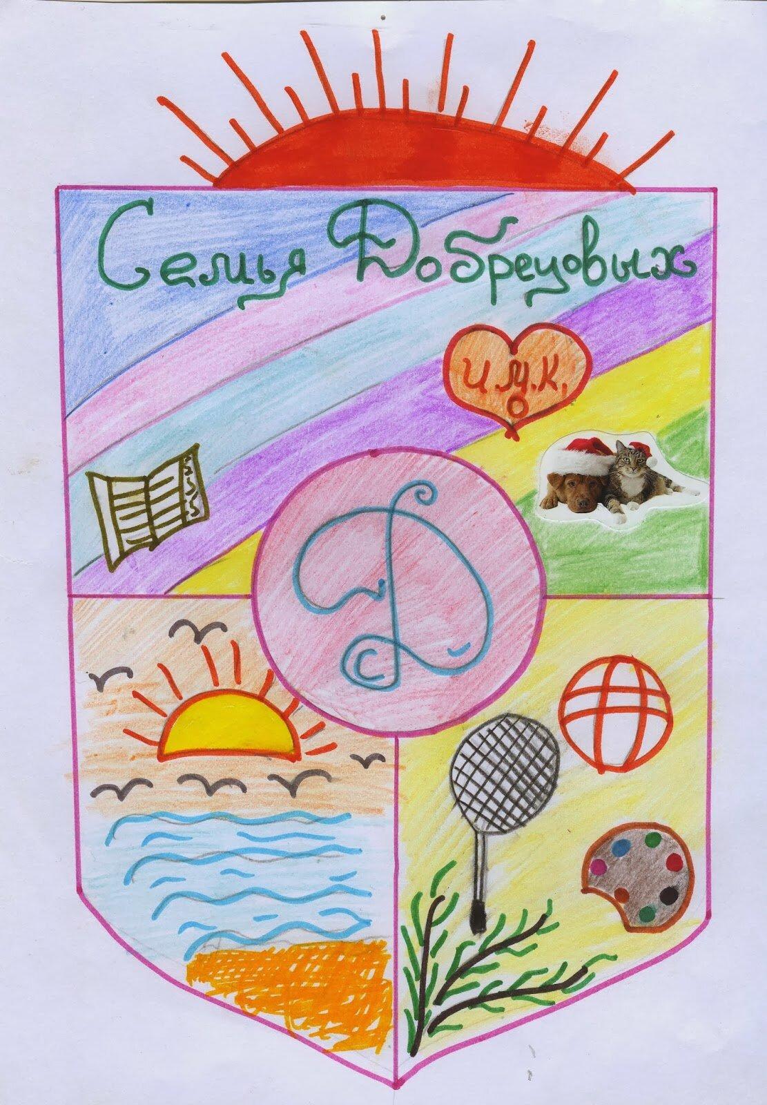 Семейные гербы детские рисунки