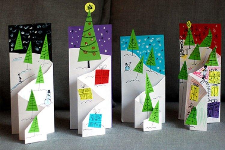 Днем рождения, новогодние открытки поделки своими руками с детьми