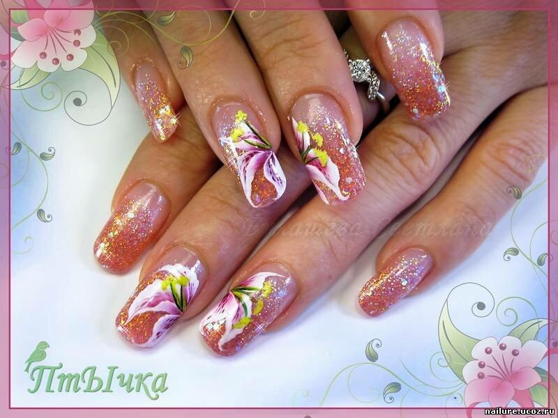 картинки ногтей с лилиями встрече очень