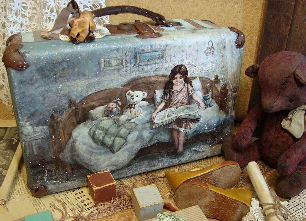 Картинки для декупажа чемодана