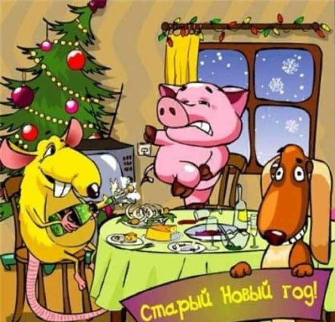 Смешная картинка про старый новый год