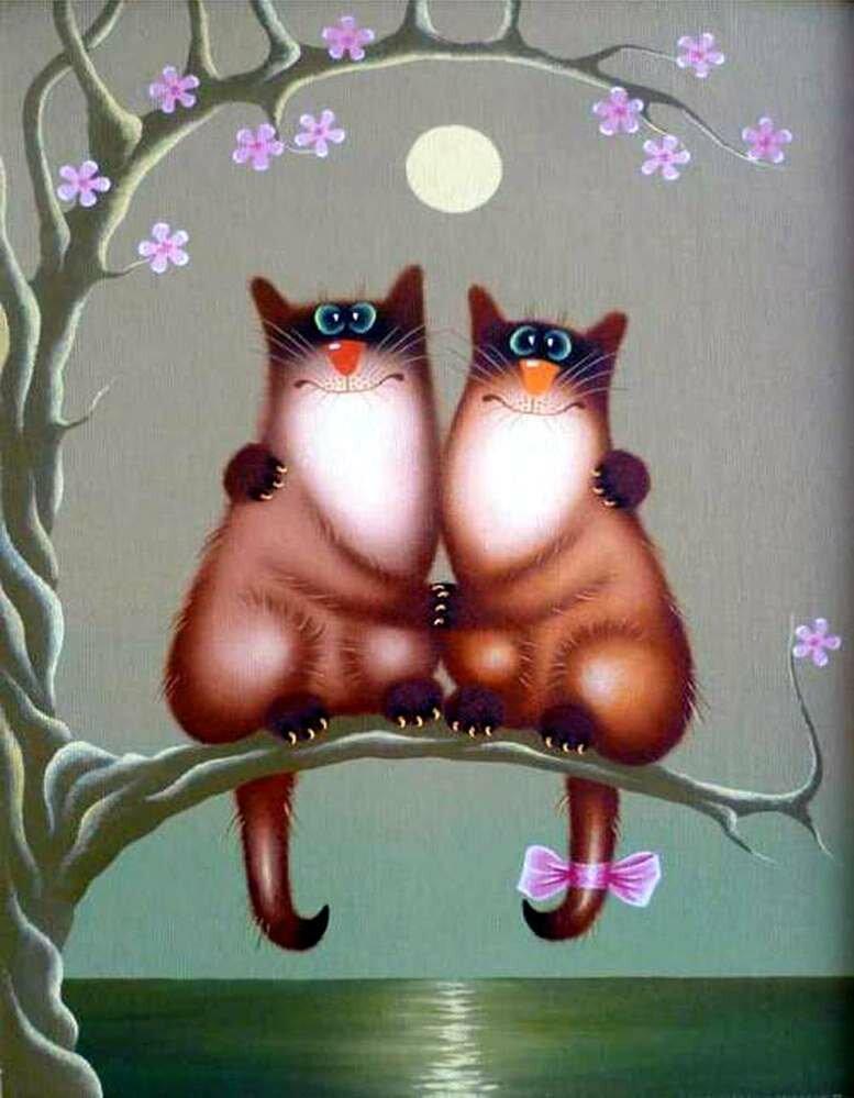 Смешная романтическая открытка