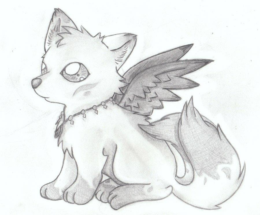 Картинки срисовки аниме животные