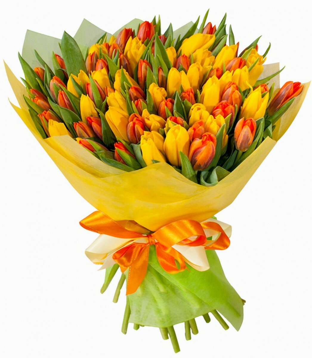 Заказать букет цветов тюльпаны