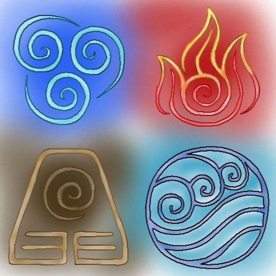 Четыре стихии символы картинки