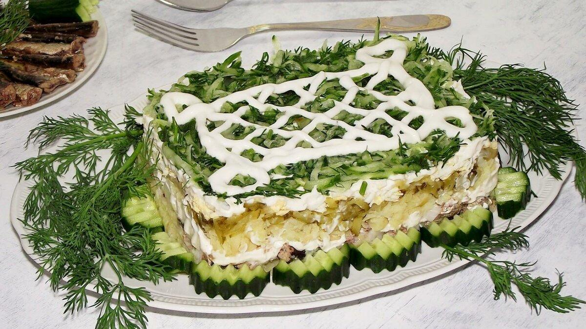 спешит говорить салат из шпрот рецепт с фото каждой