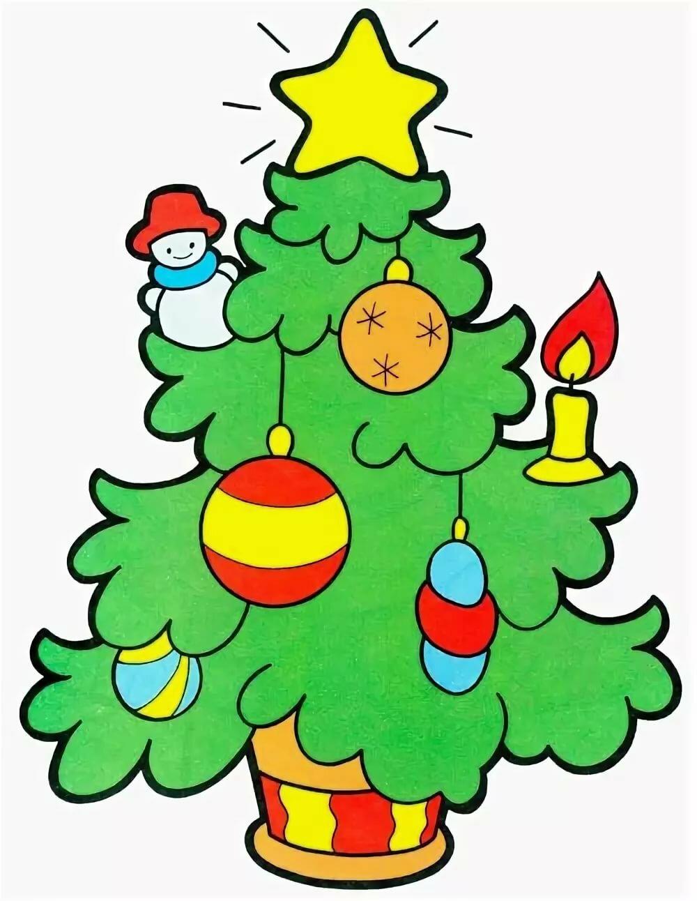 Надписями, елка новогодняя картинки нарисованные
