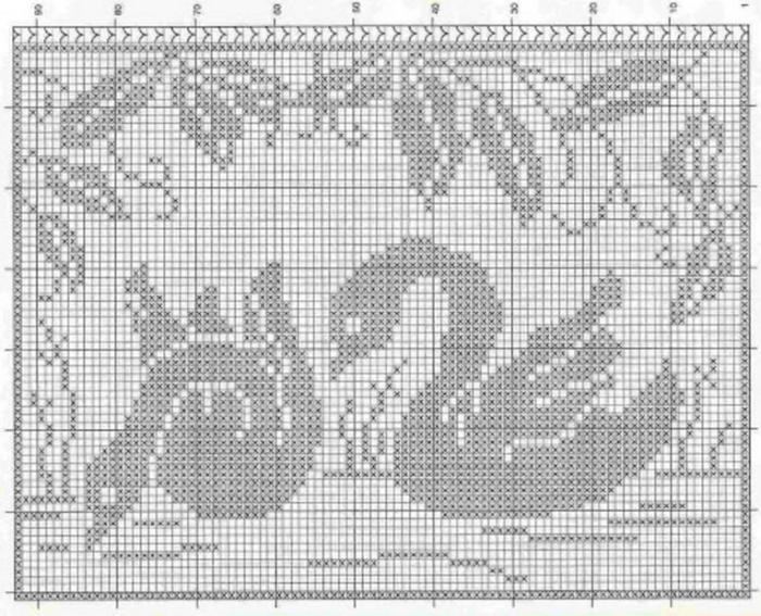 лебеди филе схемы картинки нужно выбрать