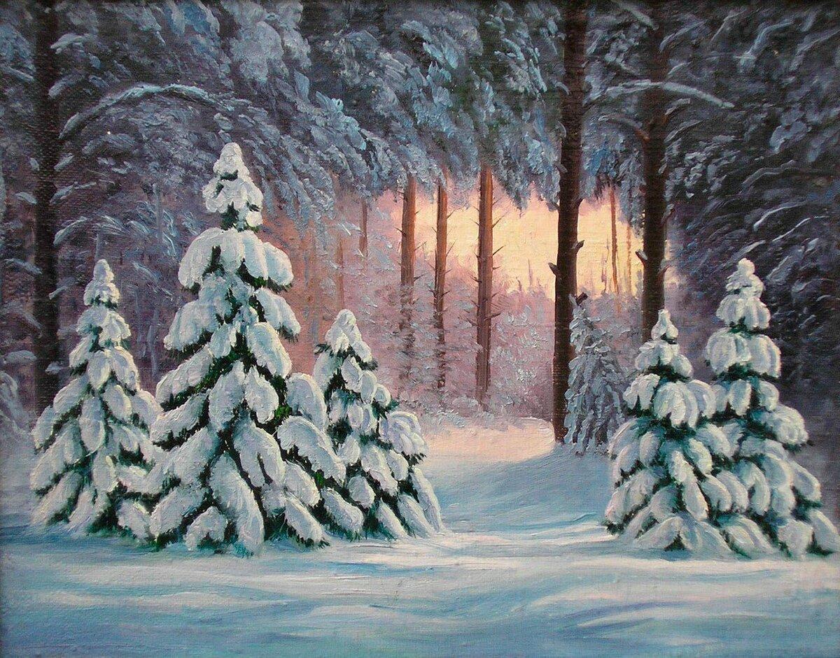 картинка снежного леса срисовать выбор обоев, совмещающих