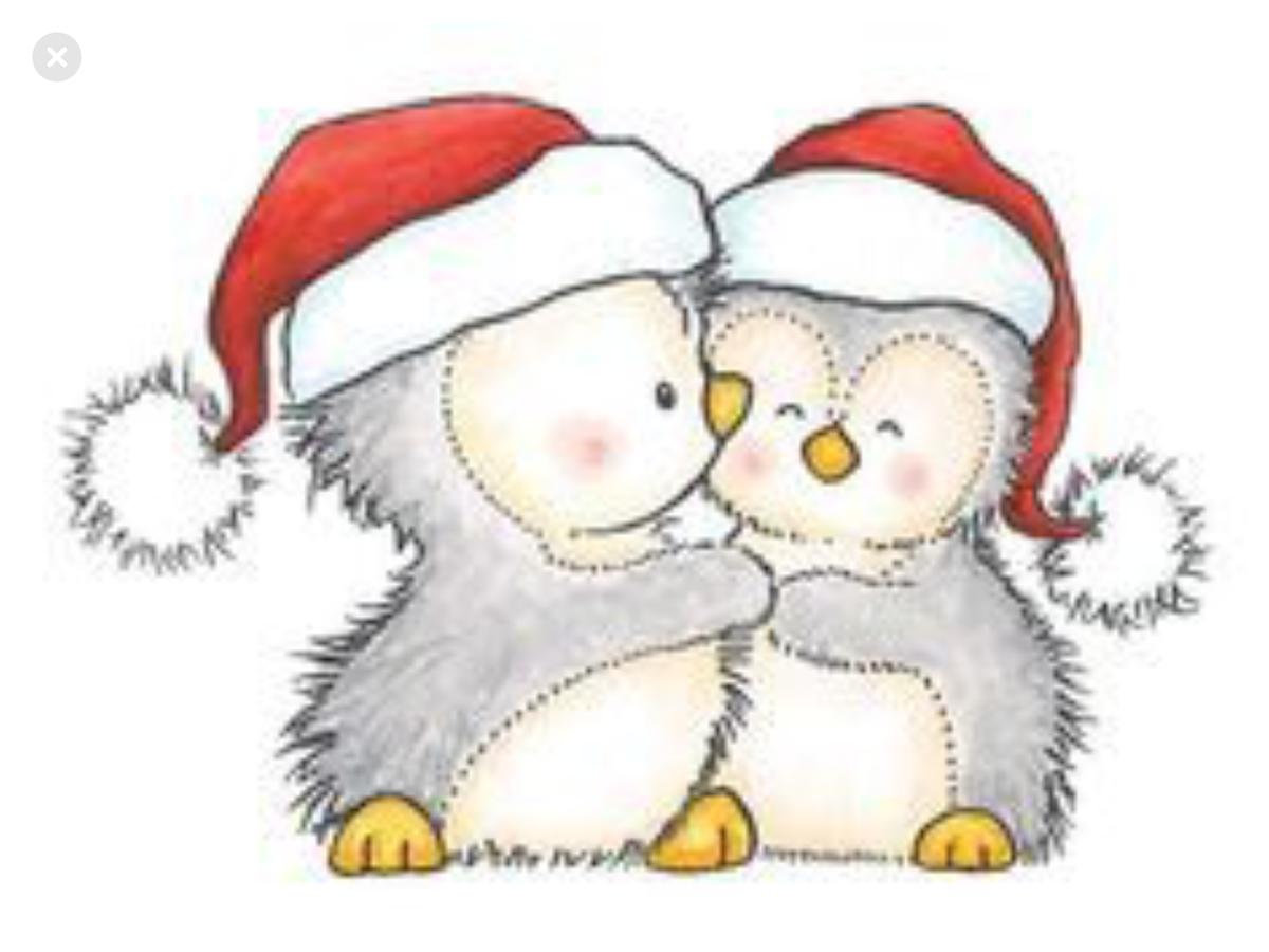 Милые рисунки для открыток на новый год