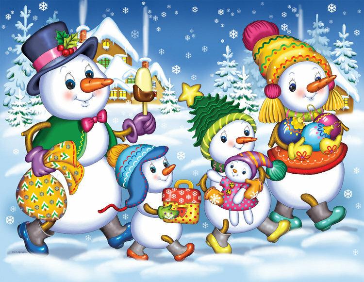 Картинки к новому году в детский сад 4-5 лет